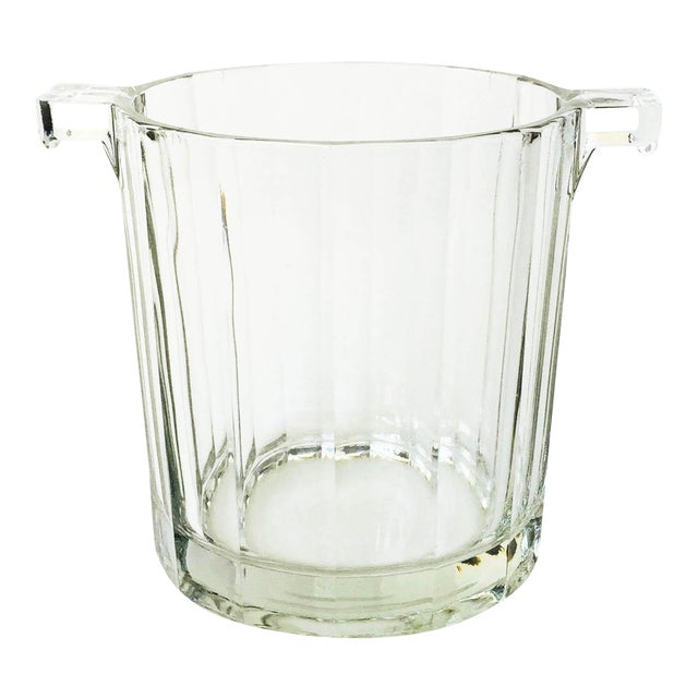 Vintage Faceted Glass Ice Bucket - Image 1 of 4
