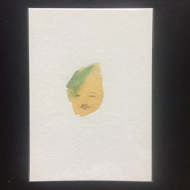 Minimalist Abstract Face Watercolor - Image 2 of 4