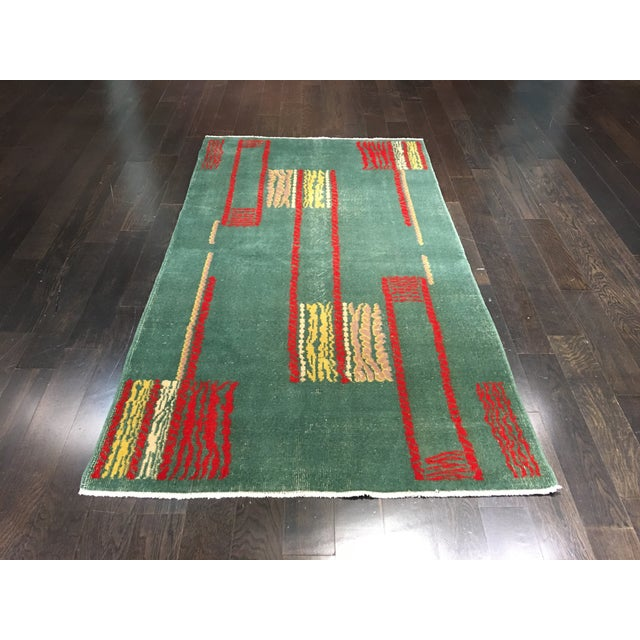 "Vintage Zeki Muran Turkish Rug - 4' X 7'1"" - Image 2 of 7"