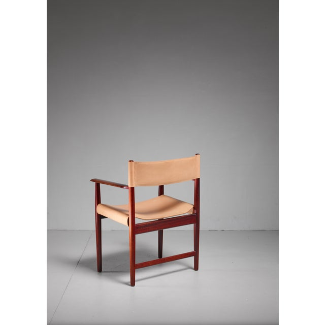 1960s Kurt Østervig Rosewood and Leather Armchair for Sibast, Denmark, 1960s For Sale - Image 5 of 5