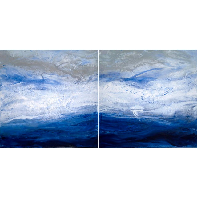 Teodora Guererra, 'Starry Seas 1' Painting, 2017 For Sale In New York - Image 6 of 7