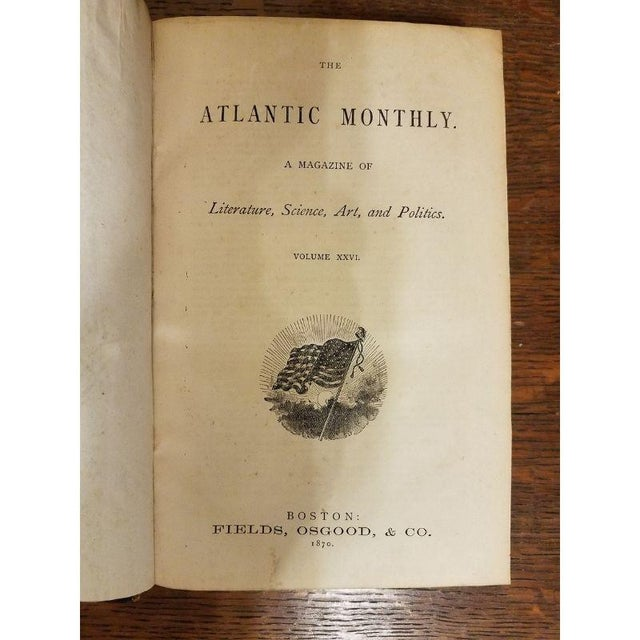 "Vintage Nine Volume Set ""The Atlantic Monthly"" Leather Books For Sale In Milwaukee - Image 6 of 9"