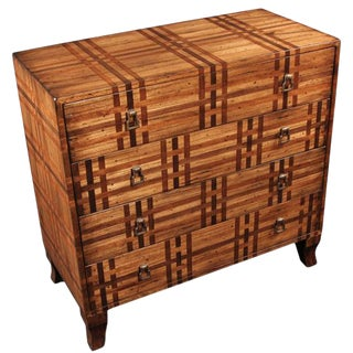 Vintage Plaid Chest Of Drawers For Sale