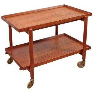 Poul Hundevad Danish Teak Bar Cart For Sale