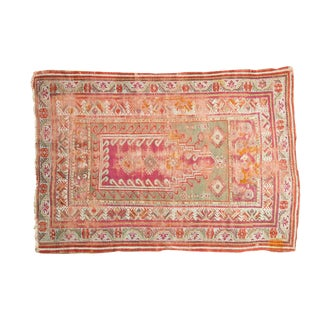 "Antique Mudjur Prayer Rug - 4'3"" X 5'11"""