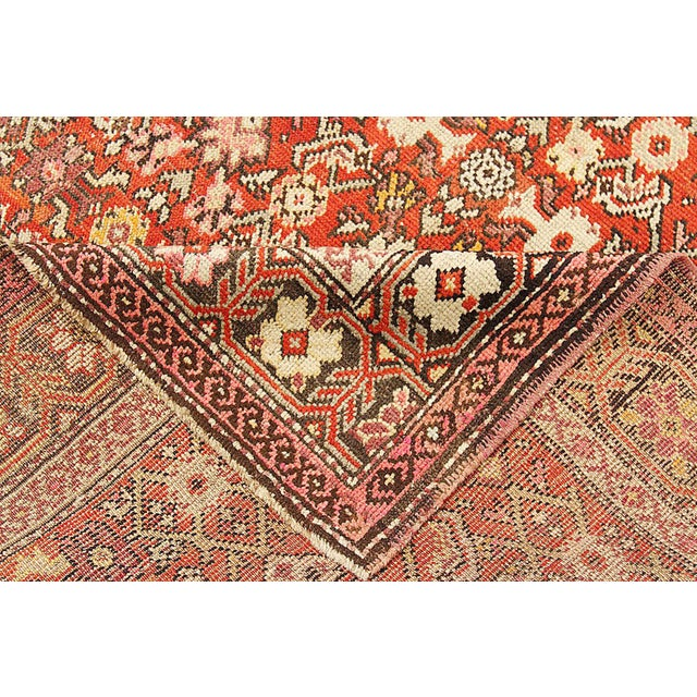 """Antique Persian Karajeh Rug-4'2'x6'4"""" For Sale - Image 4 of 5"""