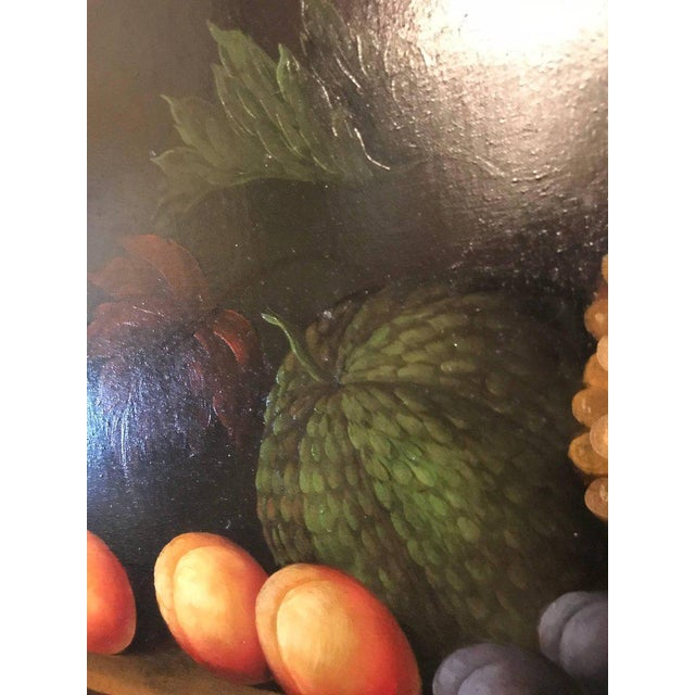 A Palatial Framed Oil On Canvas Still Life Of Flowers For Sale In New York - Image 6 of 12