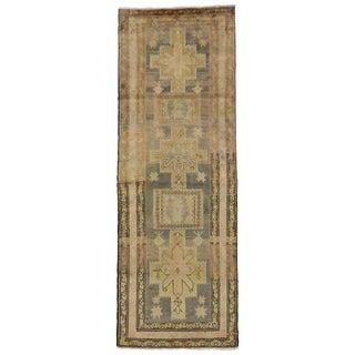 20th Century Persian Azerbaijan Wide Hallway Runner - 3′8″ × 10′4″ For Sale