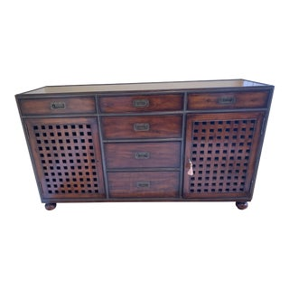 Campaign Style Theodore Alexander Credenza/Sideboard For Sale