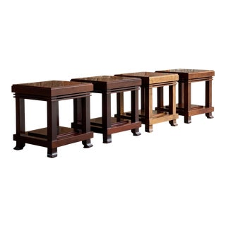Frank Lloyd Wright 'Robie' Side Tables or Stools Manufactured by Cassina For Sale