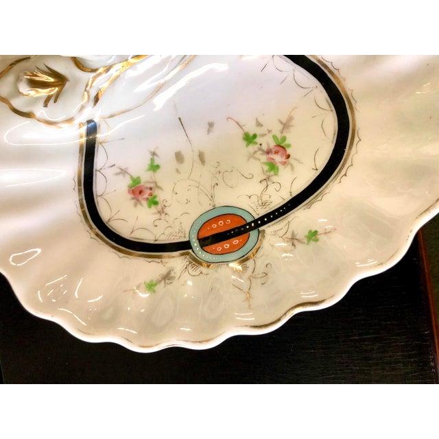 Art Deco Kpm Porcelain Double Bowl Serving Dish With Handle For Sale - Image 11 of 12