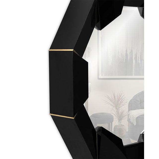 Metal Darian Black Mirror From Covet Paris For Sale - Image 7 of 9