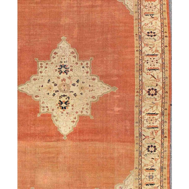 Keivan Woven Arts, E-1207, Late 19th Century Antique Ziegler Sultanabad Rug - 10′2″ × 14′5″ For Sale - Image 4 of 10