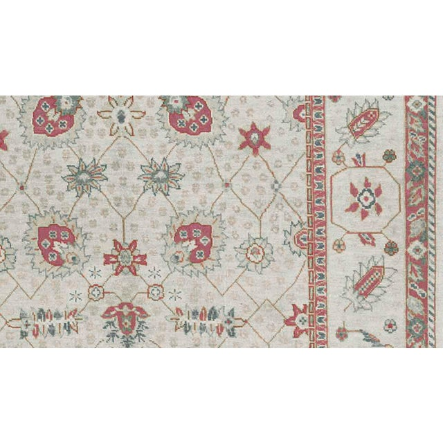 Shabby Chic Traditional Hand Woven Wool Rug - 6'1 X 9'1 For Sale - Image 3 of 4