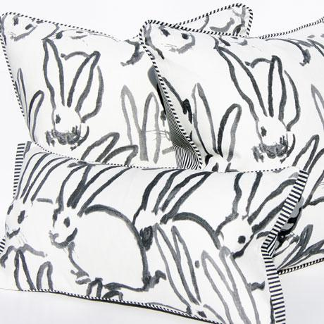 2010s Lee Jofa for Groundworks Bunny Fabric Decorative Pillow For Sale - Image 5 of 6