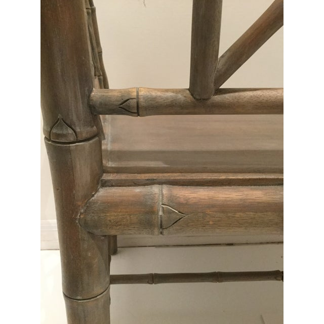 1970s Vintage Faux Bamboo Chippendale Side Chair For Sale - Image 11 of 13