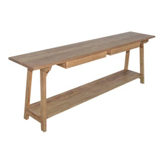 Petersen Antiques Reclaimed Heart-Pine Console Table For Sale