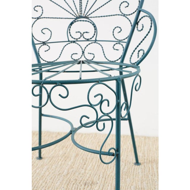 Pair of Salterini Style Iron Garden Patio Chairs For Sale In San Francisco - Image 6 of 13