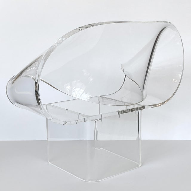 1970s Robert Van Horn Lucite Ribbon Lounge Chair, Signed For Sale - Image 10 of 13