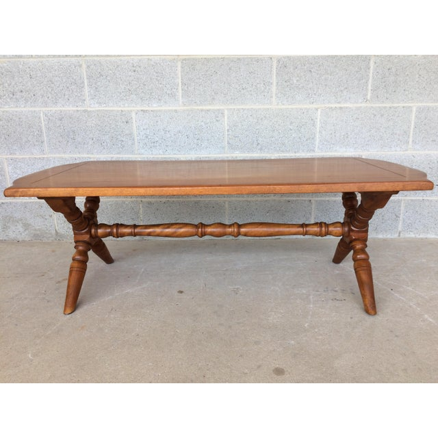 Cushman of Vermont Cushman Colonial Maple Coffee Table For Sale - Image 4 of 11