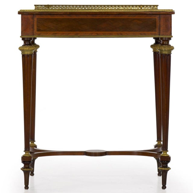 19th Century Antique French Marquetry Wine Serving Accent Table by Paul Sormani & Fils For Sale - Image 5 of 13