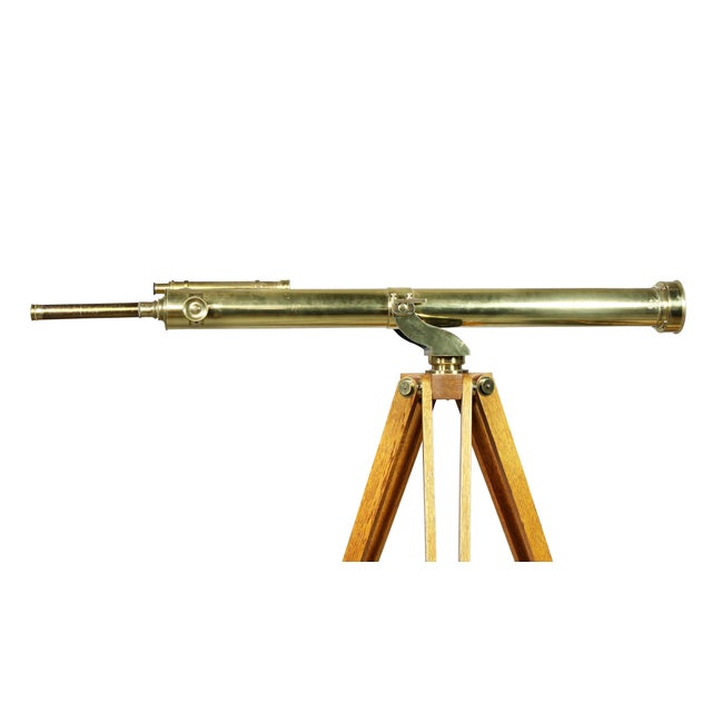 Gold Edwardian Brass Telescope on Stand by J.H.Steward For Sale - Image 8 of 11