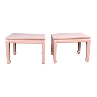 Lacquered Henredon Side Tables For Sale