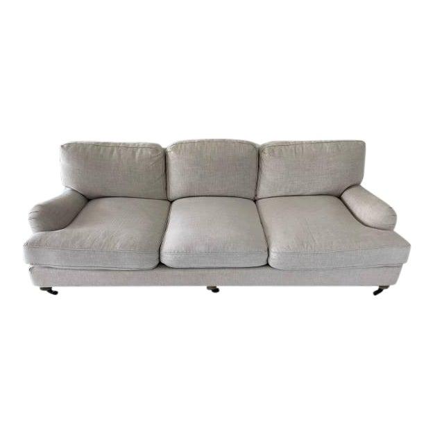 Modern Restoration Hardware English Roll Arm Sofa | Chairish