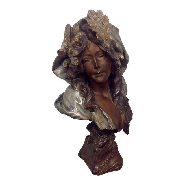 1899 Polychrome Sculpture by Blasche l'Hiver For Sale