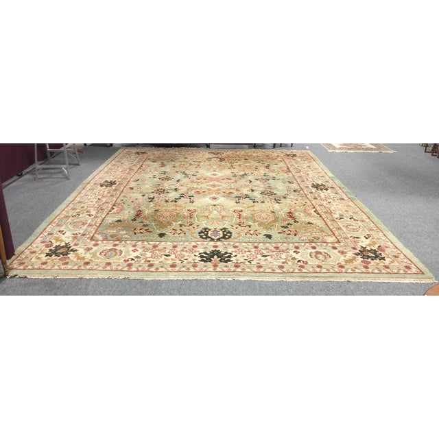 Indo Tabriz Persian Rug, New condition, professionally cleaned, no stains or damage, Nice pastel colors. Huge size, 12...