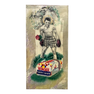 Mohammad Ali Mixed Media Painting For Sale