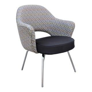 Mid-Century Modern Eero Saarinen for Knoll Brown Executive Arm Chair For Sale