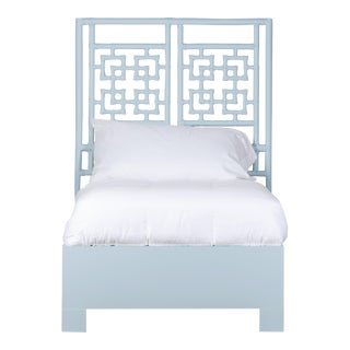 Palm Springs Bed Twin Extra Long - Blue For Sale