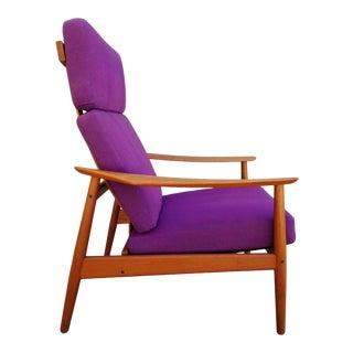 Arne Vodder Fd 164 Teak Adjustable Lounge Chair For Sale