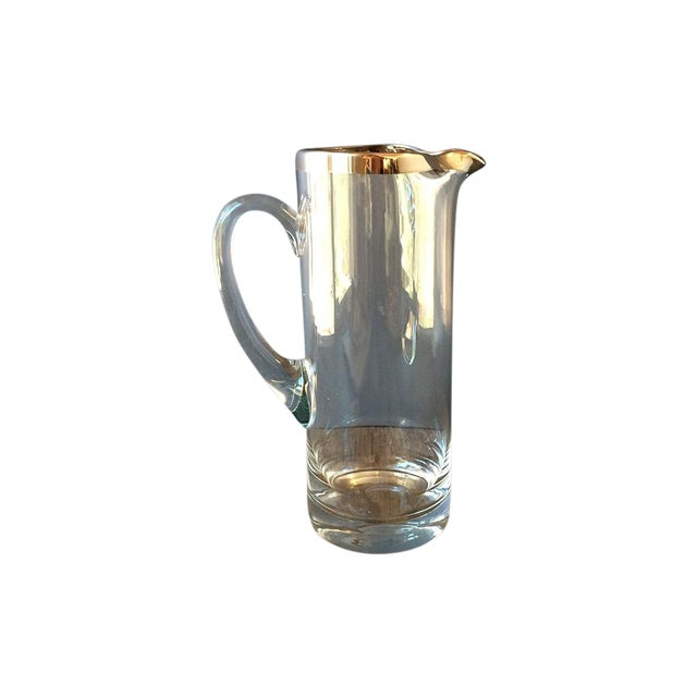 Vintage Silvered Edge Martini Pitcher - Image 1 of 5