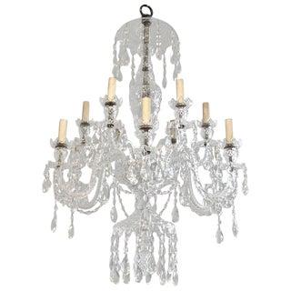 English Cut Crystal Georgian Style Chandelier For Sale