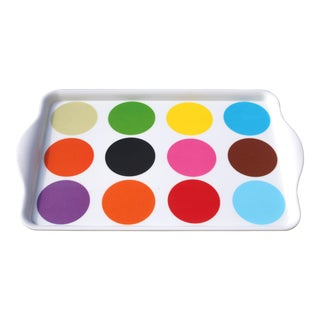 Multicolor Dot Melamine Tray by French Bull For Sale