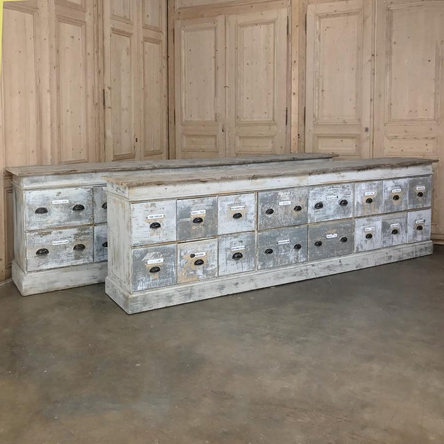 Grand 19th Century Apothecary Store Counter For Sale - Image 4 of 13