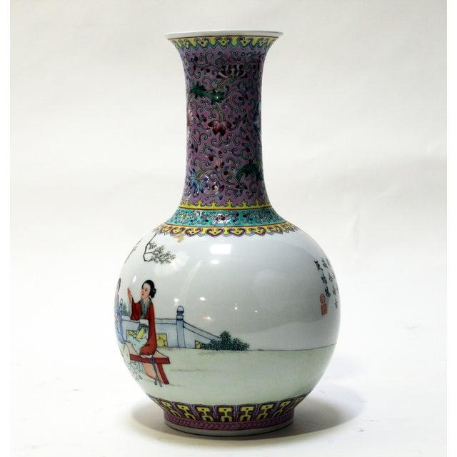 Chinese Bottle Shaped Porcelain Vase - Image 7 of 8