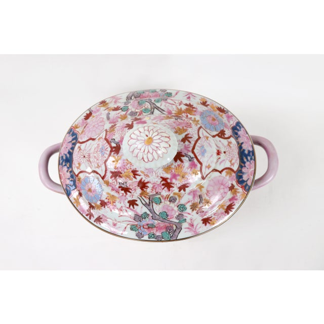 Vintage Famille Rose Tureen With Lid For Sale In New York - Image 6 of 7
