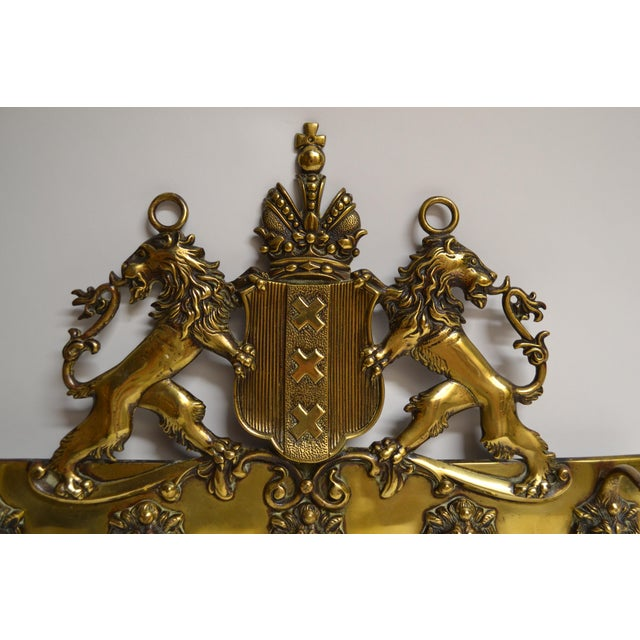 Nice-sized brass fixture for coats, scarves, dog leashes, etc.