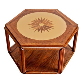 John Keal for Brown Saltman Hexagon Occasional Table For Sale