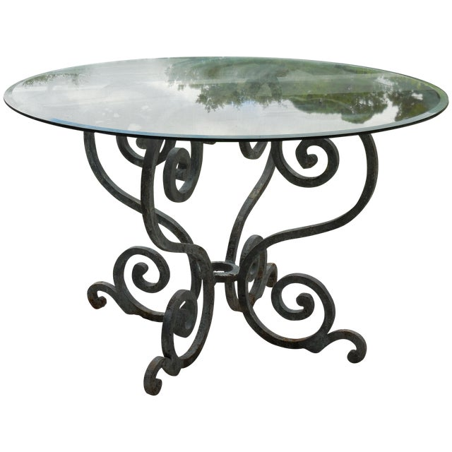 Vintage Palm Beach Iron Table - Image 1 of 11