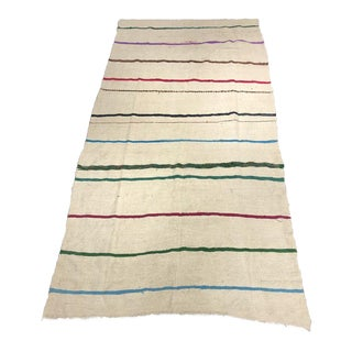 "Bellwether Rugs ""Grady"" Thin Striped Kilim Rug - 7'7""x5"" For Sale"