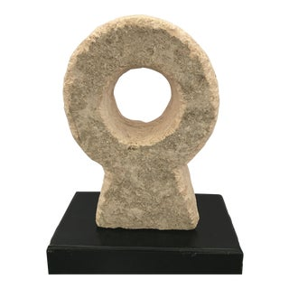 Abstract Carved Stone Sculpture For Sale