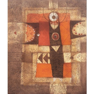 'Metamorfosi, 1977' by Diana Hansen, Geometric Abstract, Berkeley, Rome, Native American, Navajo, Hopi For Sale