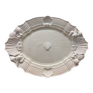 Fitz and Floyd Essentials Atlantis Serving Platter With Seashells For Sale