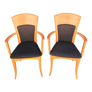 Midcentury-Modern Italian Chairs From A. Sibau - a Pair For Sale