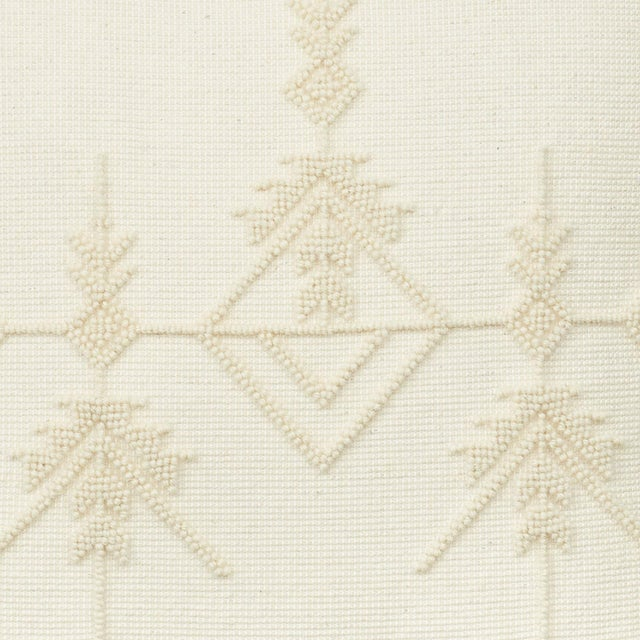 "Contemporary Schumacher Artiganale Italian Hand Woven Wool White 23"" Floor Pillow For Sale - Image 3 of 5"