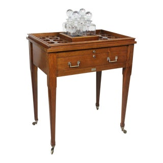 Aspreys London Mahogany Drinks Table For Sale